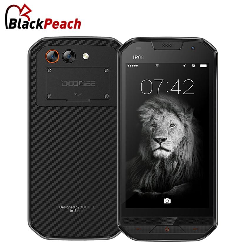 DOOGEE S30 IP68 Mobile Phone side fingerprint Dual camera 5.0 HD Android 7.0 MTK6737 Quad Core 2GB 16GB 5580mAh 4G Smartphone