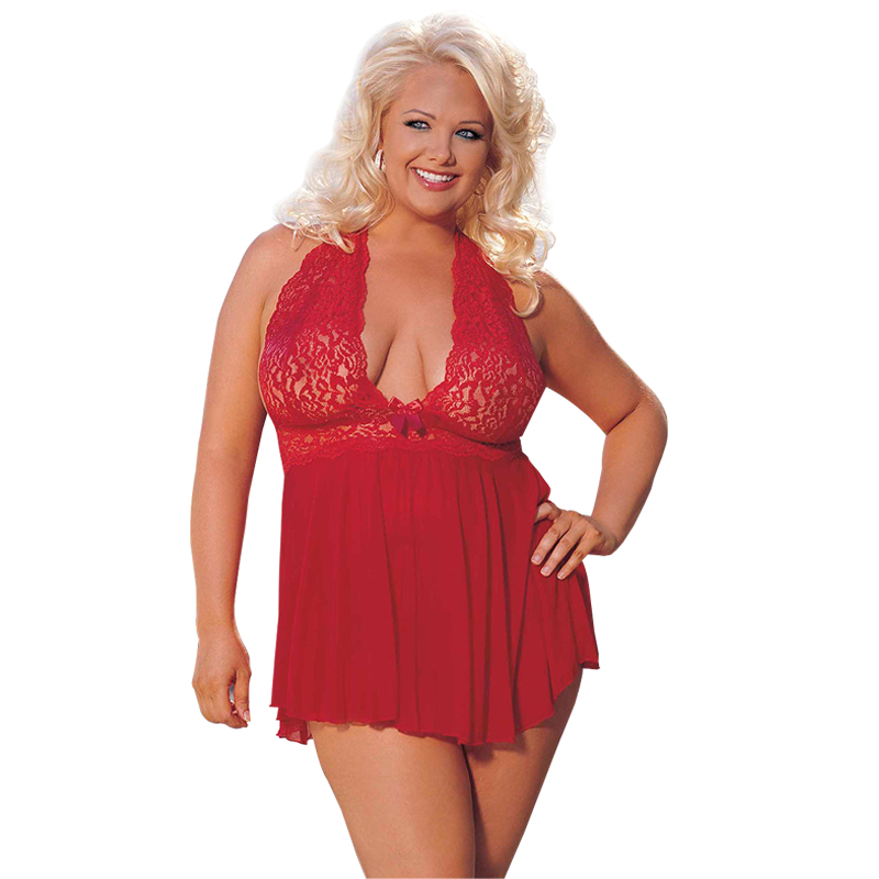 Sexy Women Hot Sale Red lace Underwear Erotic Lingerie Plus Size Sexy Sleepwear S M XL 2XL 3XL 4XL 5XL 6XL