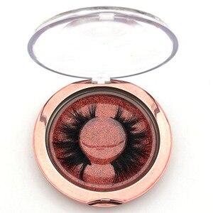 Image 4 - Mikiwi emballage personnalisé 10 pièces, boîtier rond en plastique avec plateau pour cils en vison, vente en gros, Logo, boîte demballage vide