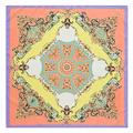 "New Women Twill Silk Scarf 24"" 60cm Kerchief Fashion Geometry Flowers and Plants Pattern Occident Style Shawl SP16101013"