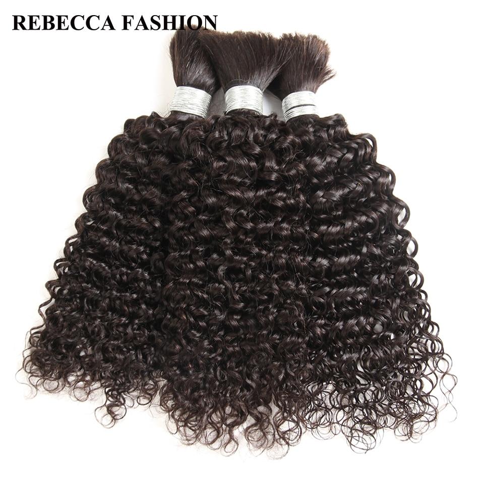 Mèches indiennes naturelles Remy ondulées-Rebecca | Pour tressage, Extensions de cheveux, en lot de 3, livraison gratuite