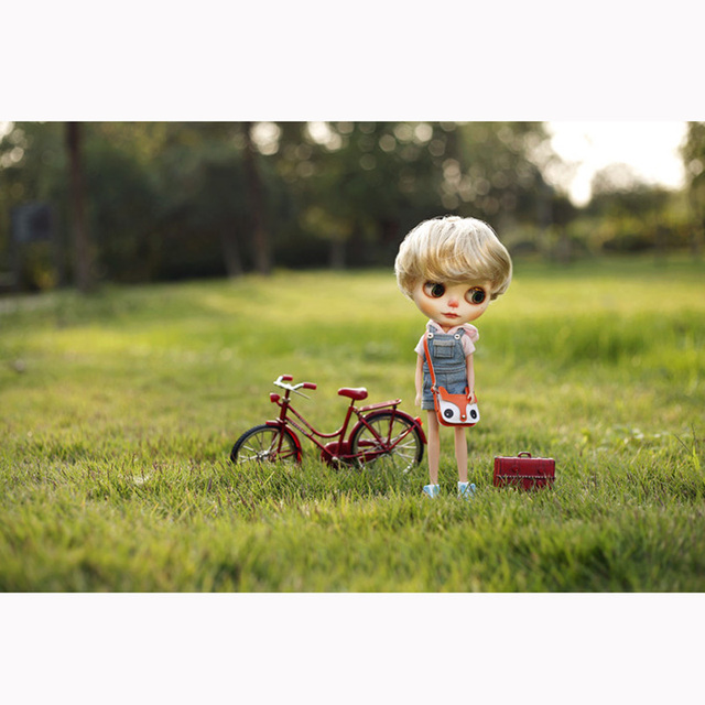 Blythe Doll 1/6 Scale Miniature Bicycle Well-Detailed Rare Free Gift