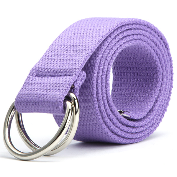 Fashion Unisex Canvas Belt Fabric Webbing Waist Casual D Ring Plain Canvas Belt Waistband