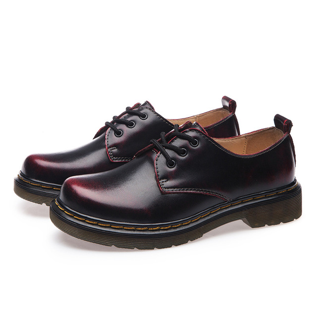 Fashion 2017 Oxfords Shoes for Women Unisex Lace Up Genuine Leather Women Flats Casual Ladies Shoes Plus Size 35-44