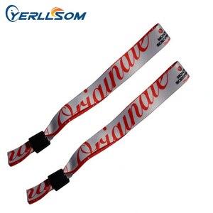 YERLLSOM 200 шт./лот индивидуальные печатные браслеты с логотипом для подарков Y061502