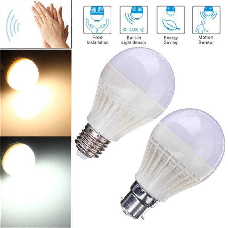 LED Light Bulb E27 B22 5W 7W 18/25 2835SMD Sound Voice Light Auto Sensor Detector Lamp Globe Bulb Corridor Lighting 220-240V