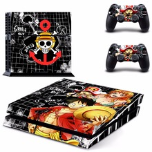 New One Piece vinyl Decal PS4 Skin Sticker For Sony Playstation 4 PS4 Console +2Pcs Controller protective skins