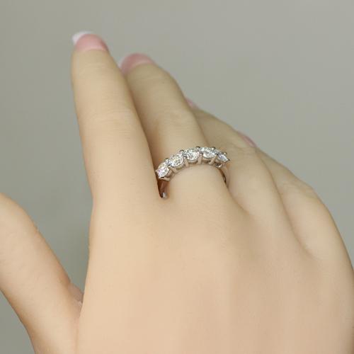 14K 585 White Gold 1.25CT Diamond Engagement Ring
