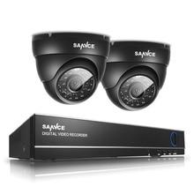 New SANNCE HD 720P CCTV 4CH HDMI DVR 2PCS 1.0MP 1200TVL High Resolution Camera Home Surveillance Security System Kit