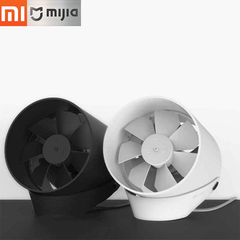 Original XiaoMi VH USB Double leaf silent fan low noise Touch Switch and Second Gear Adjustable Potable Travelling office Fan xiaomi vh fan stylish double blade mute cycle desktop silent fan low noise touch sensor switch and second gear adjustable