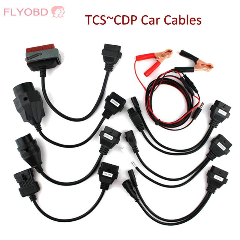 Prix pour Livraison gratuite Nouveau TCS outil De Diagnostic ensemble complet de voiture câbles pour TCS CDP PRO PLUS 8 De Voiture câbles OBD2 Voiture adaptateurs