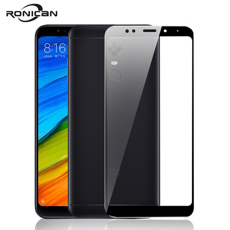 RONICAN Glass For Xiaomi Redmi 5 Plus Screen Protector Ultra Thin For Xiaomi Redmi Note 5 Pro Protective Glass For Redmi 5 Plus-in Phone Screen Protectors from Cellphones & Telecommunications