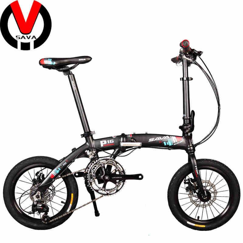 sava p16 unisex mini 16s folding mtb mountain bicycle ultralight foldable bike 16 39 39 bicicleta. Black Bedroom Furniture Sets. Home Design Ideas