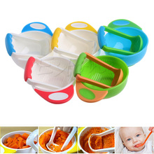 (YAS)Kid baby Learning Dishes Grinding Bowl, Baby Handmade Grinding Fruit Supplement,Children Infant Food Mill Bowl