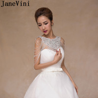 JaneVini Luxury Rhinestone Beaded Bridal Shoulder Chain Necklaces Bling Crystal Jewelry Women Party Wedding Shoulder Wrap Chains