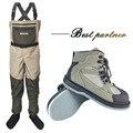 Ropa de pesca con mosca Waders para caza al aire libre Wading pantalones y zapatos Aqua Sneakers overol suela de fieltro botas de pesca zapatos de roca FXM1