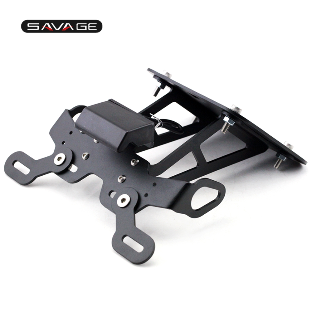 Registration License Plate Frame Holder For YAMAHA YZF R25/R3 MT-25 MT-03 2015-2018 17 MT25 MT03 YZF-R25 YZF-R3 Fender Bracket for yamaha yzf r3 r25 mt 03 2014 2015 2016 motorcycle rearset rear set replacement base mounting bracket plate cnc machined
