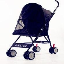 Newest! Fashion Portable  Cat Stroller Foldable  Lightweight Pet Stroller  Four Seasons Four - wheeled Dog Strollers