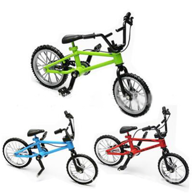 Baby Boy Funny Toy Fingerboard Bicycle Toys With Brake Rope Blue Simulation Alloy Finger Bmx Bike Children Kids Gift Mini Size