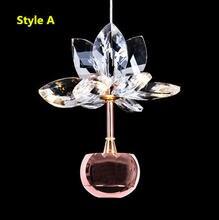 Iwhd Цветы Модные светодиодные подвесные светильники lustre