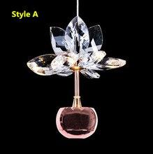 Iwhd花ファッションledペンダントライト光沢ペンダントランプhanglamp器具家庭用照明サスペンション照明器具