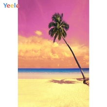 Yeele Seaside Landscape Beach Coconut Palm Tree Photography Backgrounds Personalized Photographic Backdrops For Photo Studio