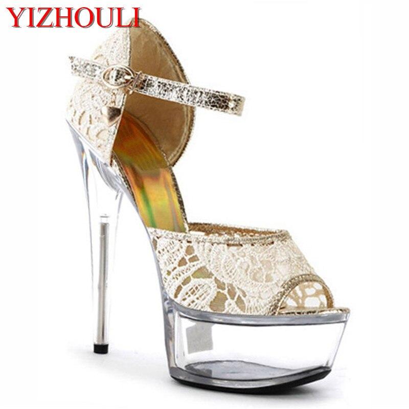 15 cm femmes sandales à talons hauts, dame de mode robe en cuir verni wedge marque sexy chaussures vente Chaude