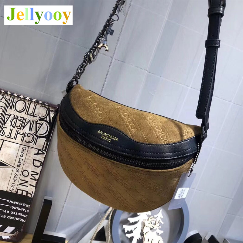 Matte Leather Letter Printed Chest Bag Female 2018 Autumn and Winter Fashion Leather Shoulder Bag Diagonal Crossbody Bag Channel letter patches nylon crossbody bag
