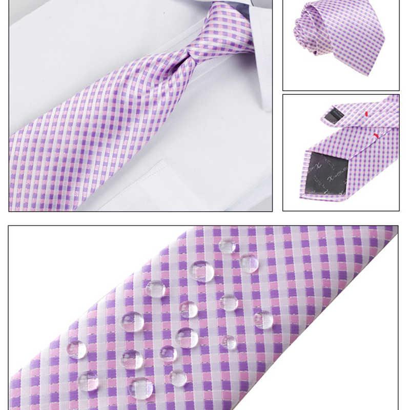 Nova Marca 2019 8 CENTÍMETROS Laços Conjuntos de Luxo de Alta Qualidade para o Botão de Punho Dos Homens Gravata Gravata Clips Lenço Xadrez Gravatas Casamento para Os Homens