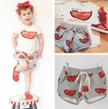2016 New Spring/Summer Ins bob*choses Watermelon Girl's Boy'sT-shirt + Pants Toddler Sportwear Outwear