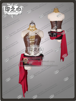Anime Pyrrha Nikos Any Size Cosplay Costume Shirt+Dress+Gloves  A