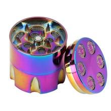 Colorful Leaf Grinder Shredder Mini Herb Herbal Tobacco Smoke Smoking Pipe Accessories Metal Crusher Hand Muller