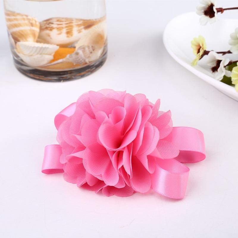 Zilue 50pieces / lot Prom corsage Wrist Flower 5 colores Accesorios - Para fiestas y celebraciones - foto 4