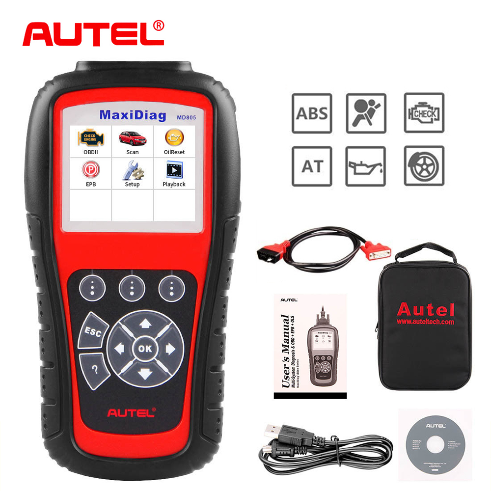 Autel MD805 OBD2 Scanner TPMS All System Car Diagnostic Tool Code Reader for Oil Service Reset same as MD808 Pro car obd2 obdii oil inspection service reset tool