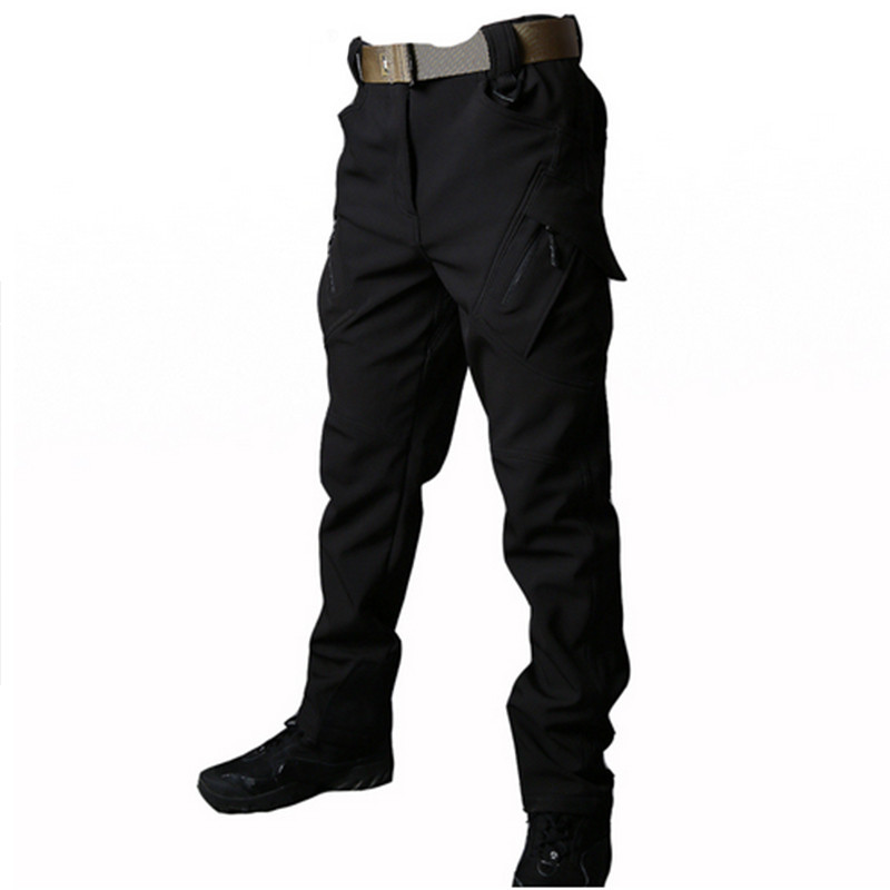 HOT Outdoor Mens Soft shell Camping Tactical Cargo Pants Combat Hiking Trousers