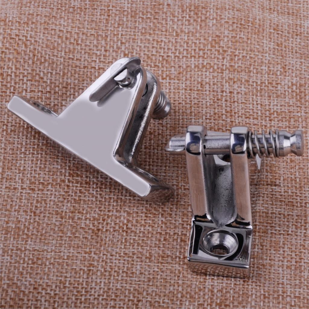 CITALL 2pcs 90 Degree Stainless Steel Deck Hinge With Quick Release Pin Boat Marine Hardware Fitting