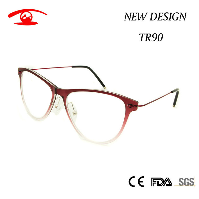 NOVA Itália Projeto Mulheres Armações de Óculos Moda Lente Clara Óculos Gradual Red Butterfly Frame Ótico para As Mulheres TR90 Espetáculo