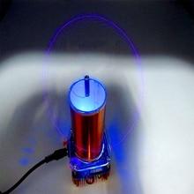 Diy kits 30w mini música tesla bobina plasma alto falante tesla arc gerador amplificador de transmissão sem fio