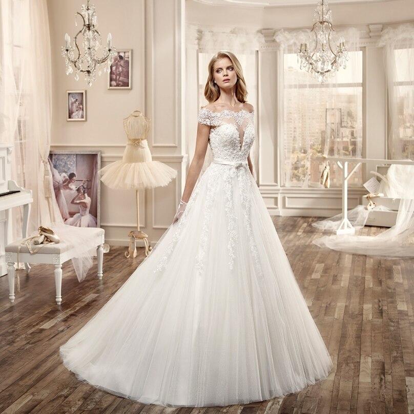Rustic Wedding Dress Ideas: Online Get Cheap Lace Bateau Neckline Wedding Dress