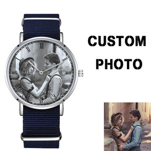 D-0000 Custom Your Design or Photo Watch Blank Watch Face Company Brand Name Engraved on Back Case and Buckle Watch(China)