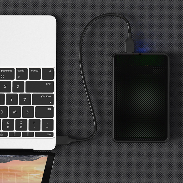 """2.5"""" HDD Case USB 3.0 Micro B SATA HDD Box For Hard Disk Drive External HDD Enclosure Black Case 5Gbps Plug and Play For TV PC"""