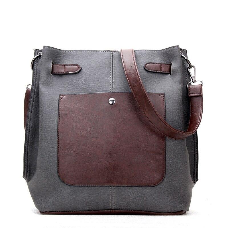 Women Vintage Crossbody Handbag Female Tassel Shoulder Bag Pu Leather Bucket Bags Tote Ladies Messenger Bag