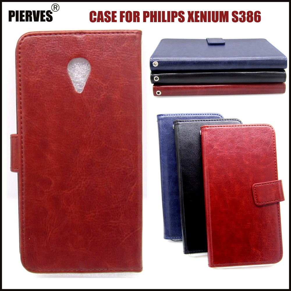 Casteel Classic Flight Series high quality PU skin leather case For <font><b>Philips</b></font> <font><b>Xenium</b></font> <font><b>S386</b></font> Case Cover Shield image