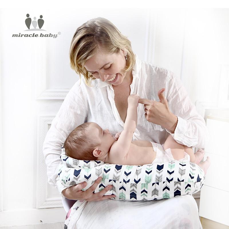 Baby Nursing Pillows Maternity Baby Breastfeeding Pillow Infant Cuddle U-Shaped Newbron Cotton Feeding Waist Cushion 2Pcs/Set