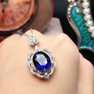 Image 2 - MeiBaPJ parfait saphir pierre gemme ensemble de bijoux 925 en argent Sterling 2 Siut Fine luxe bijoux de mariage pour les femmes