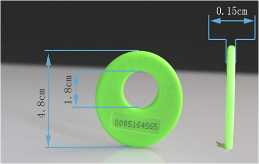 RFID electronic ticket clothing management label 1000pcs long range rfid plastic seal tag alien h3 used for waste bin management and gas jar management
