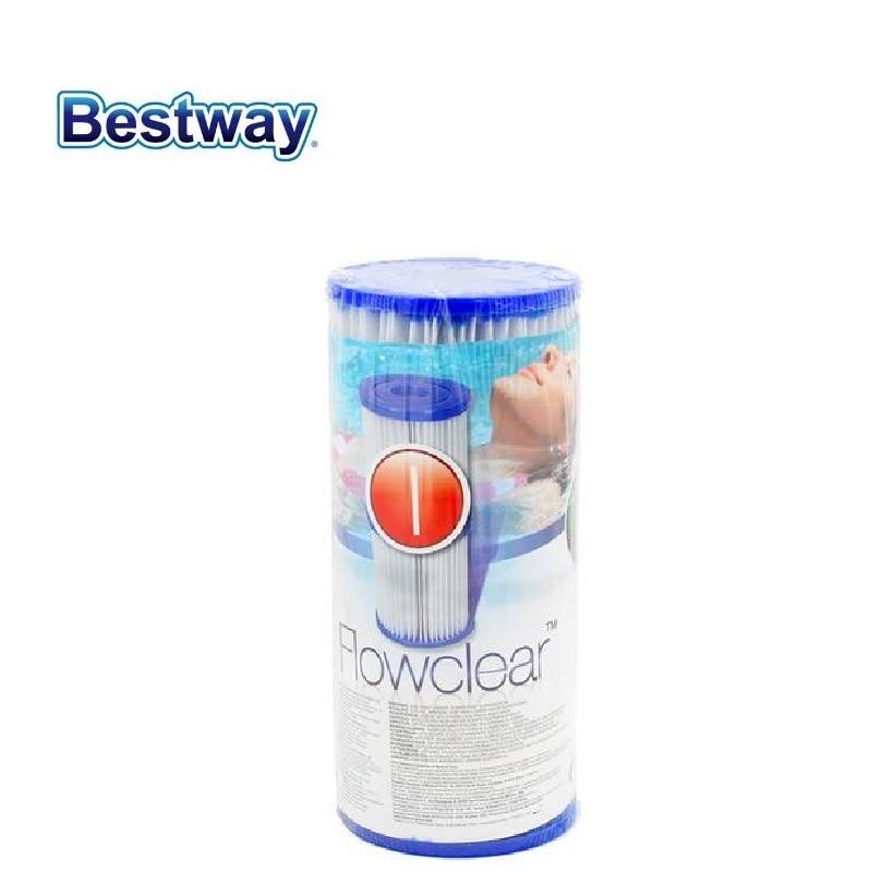 2 Pcs/set 58093 Bestway Filter Cartridge/1 Pair of Filter CartridgesI)/Filter core for the Swimming Pool Filter Pump 58381-w