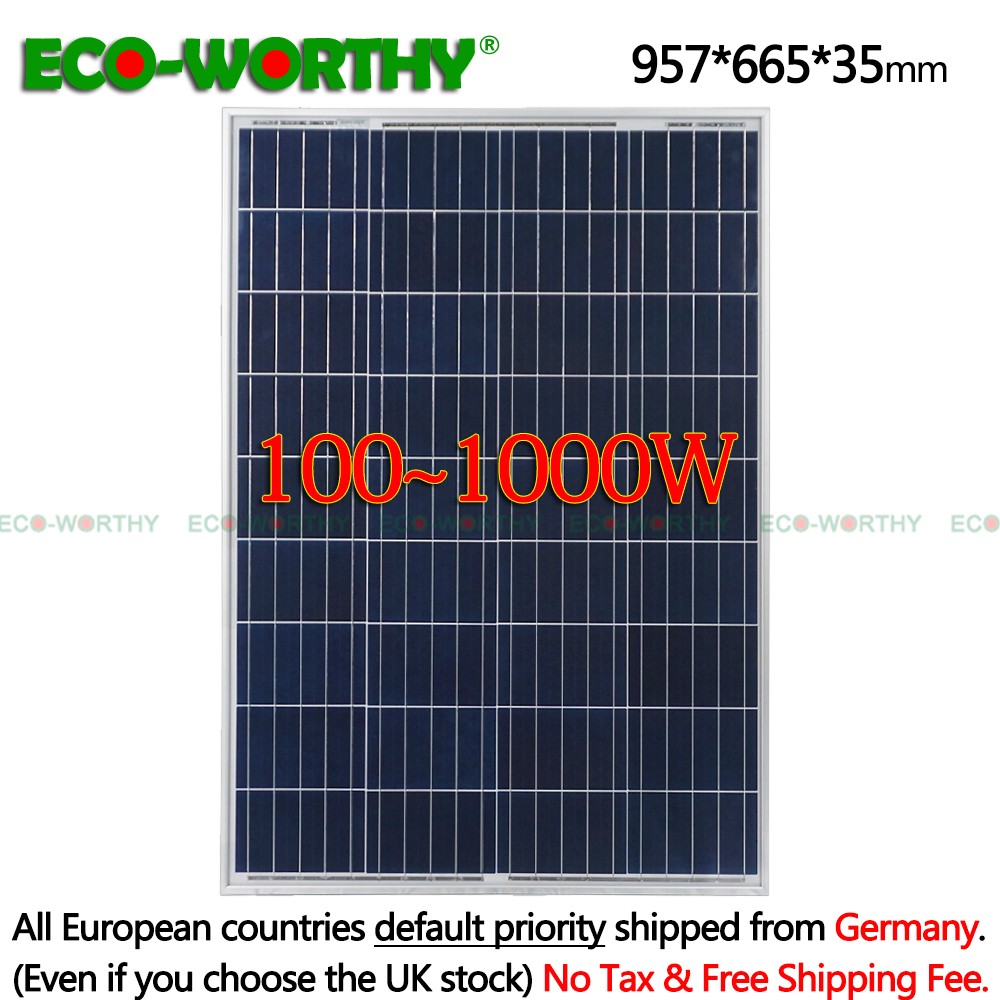 1/2/3/4/6/8/10pcs 100w 18v Polycrystalline Solar Panels for 12v Battery RV Boat Car Home solar power system 200W/400W/600/1000w1/2/3/4/6/8/10pcs 100w 18v Polycrystalline Solar Panels for 12v Battery RV Boat Car Home solar power system 200W/400W/600/1000w