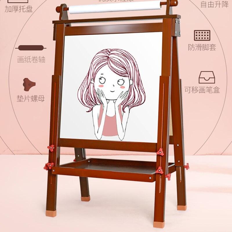 Enfants planche à dessin chevalet magnétique double face planche sans poussière ménage petit tableau noir support enfants graffiti conseil - 4