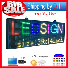 Outdoor P10 SMD LED signs/ Support computer USB programmablefor full color led display